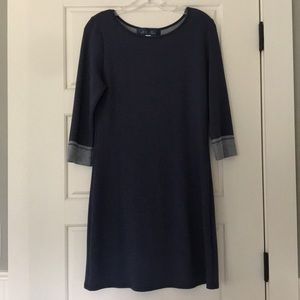 Navy blue, fitted dress